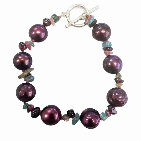 Macy's Cranberry Red Freshwater Pearl Bracelet